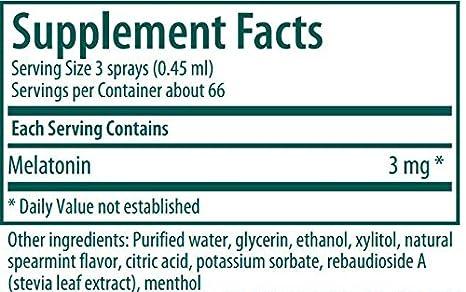 Amazon.com: Genestra Brands - Melatonin Spray - Sleep Support in Easy Dosing Spray* - Spearmint Flavor - 1 fl oz (30 ml): Health & Personal Care