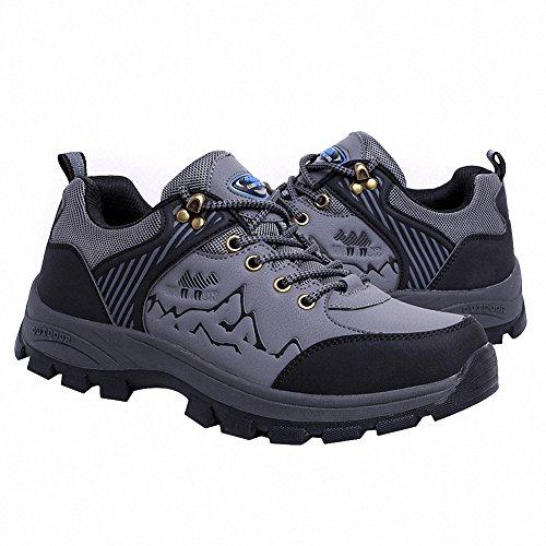 Ben Sports Zapatillas de senderismo Botas de senderismo zapatillas de deporte para Hombre,37-46 Gris