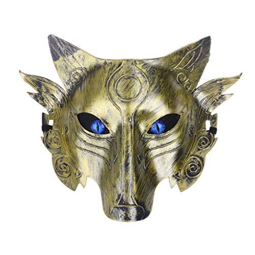 Kofun Wolf Mask, Werewolf Wolf Mask Masquerade Cosplay