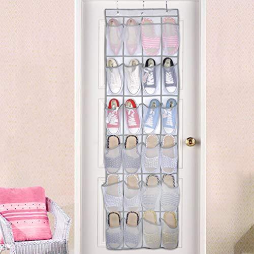 de chaussures sac tissé Rack ménage des des des le non poches accessoires l'espace grandes stockage portes de derrière accrochant 24 économisant de maille XxTzqy8