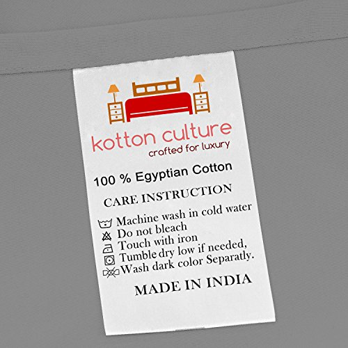 Premium Duvet Cover with Zipper Closer 100% Egyptian Cotton 600 Thread Count Luxurious, Durable and Hypoallergenic Ultra Soft Breathable By Kotton Culture ( California King/King, Silver )