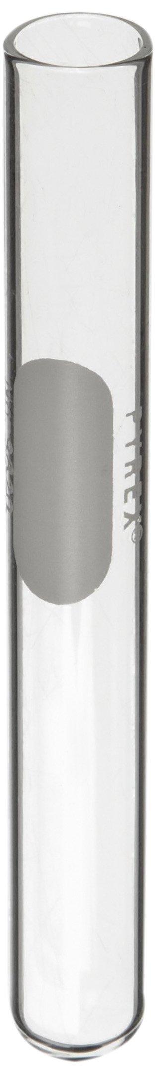 Corning Pyrex 9820-13 Borosilicate Glass Round Bottom 9mL Reusable Rimless Wasserman Culture Tube, 13mm OD x 100mm Length (Pack of 72)