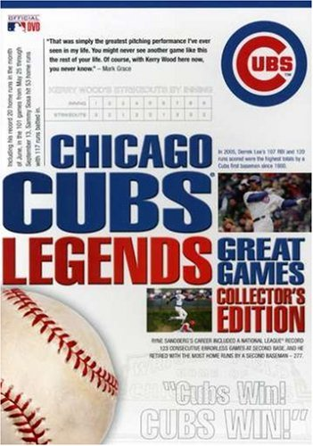 Chicago Cubs Legends: Great Games Collector's Edition [DVD] by A&E