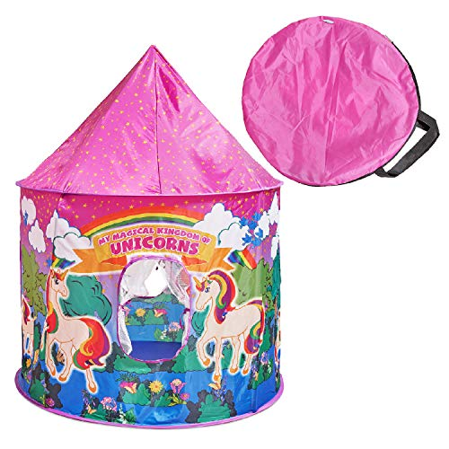 (Glittles Unicorn Pop-Up Play Tent Unicorn Play House for Kids Toy)