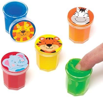 Baker Ross Mini Cubos de Plastilina con Diseño de Animales de la Jungla. Perfectos como Relleno de Piñata Premios y Regalos de Fiestas Infantiles (Pack de 6): Amazon.es: Juguetes y juegos