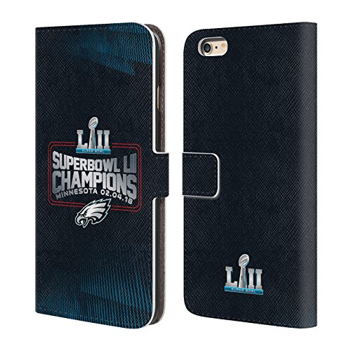 Official NFL Philadelphia Eagles 3 2018 Super Bowl LII Champions Leather Book Wallet Case Cover For Apple iPhone 6 Plus / iPhone 6s Plus