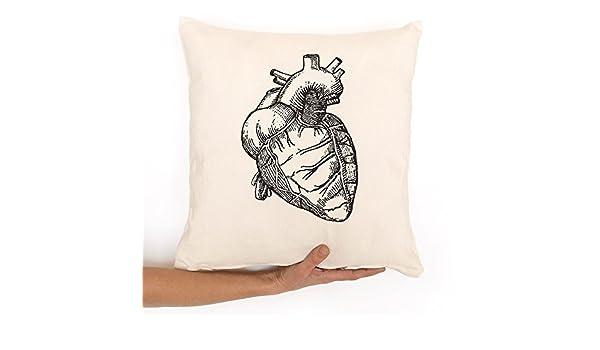 Funda cojín corazón anatómico un regalo de enamorados. En ...