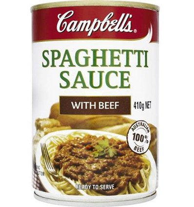 Las Sopas Campbell Espaguetis en Salsa de Carne a la Boloñesa 97% Libre de Grasa 410 g: Amazon.es: Alimentación y bebidas