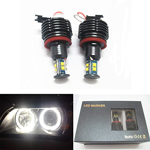 Bmw M3 E92 - GFJMC CREE LED Light 80W H8 HID Xenon 6000k Error Free Angel Eyes Halo Ring for BMW M6 E71 E70 E87 E90 E92 E93 X5 X6 Z4 M3