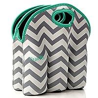 Neoprene 6 Pack Bottle Carrier, Extra Thick Insulated Baby Bottle Cooler Bag ...