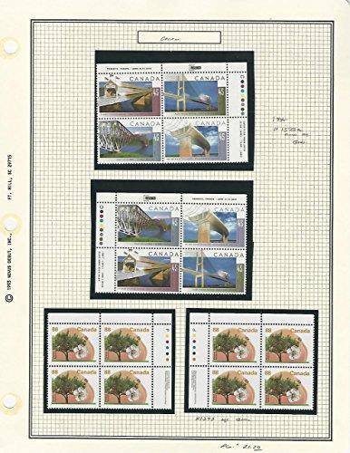 Canada, Postage Stamp, 1523a, 1373 Mint NH Blocks (p) 1995 Bridges