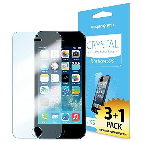 SPIGEN Premium Front Screen Protector + Back Protector for iPhone 5S