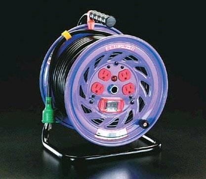 エスコ AC100V/15A/30mコードリール(過負荷漏電遮断付) EA815DK-30 B007ZKY69O