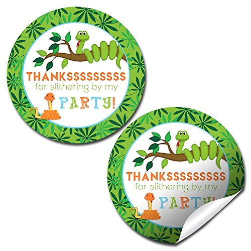 (Snake Birthday Party Thank You Sticker Labels, 40 2