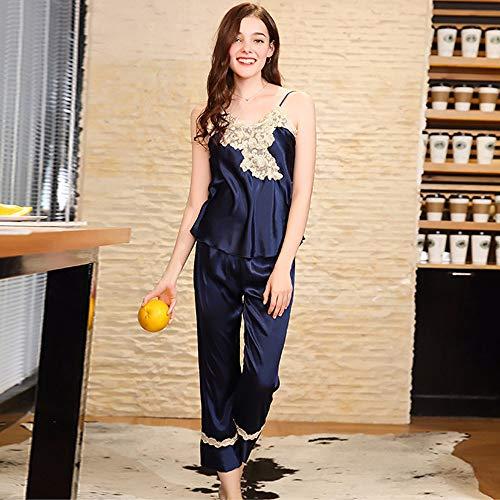 Sexy Seda Con Cuello Kimono Noche Mujer Mujeres De Negligee Vestido V Oscuro Batas Para Corto Albornoz Azul En Las Dormir Domicilio Servicio A Satén Camisón Antideslizante Pijamas 7UvzgWnYW