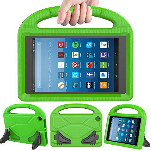 LEDNICEKER Kids Case for Fire HD 8 2018/2017 - ShockProof Handle Friendly Convertible Stand Kids Case for Fire HD 8 inch Tablet (7th & 8th Generation Tablet, 2017 & 2018 Release) - Green