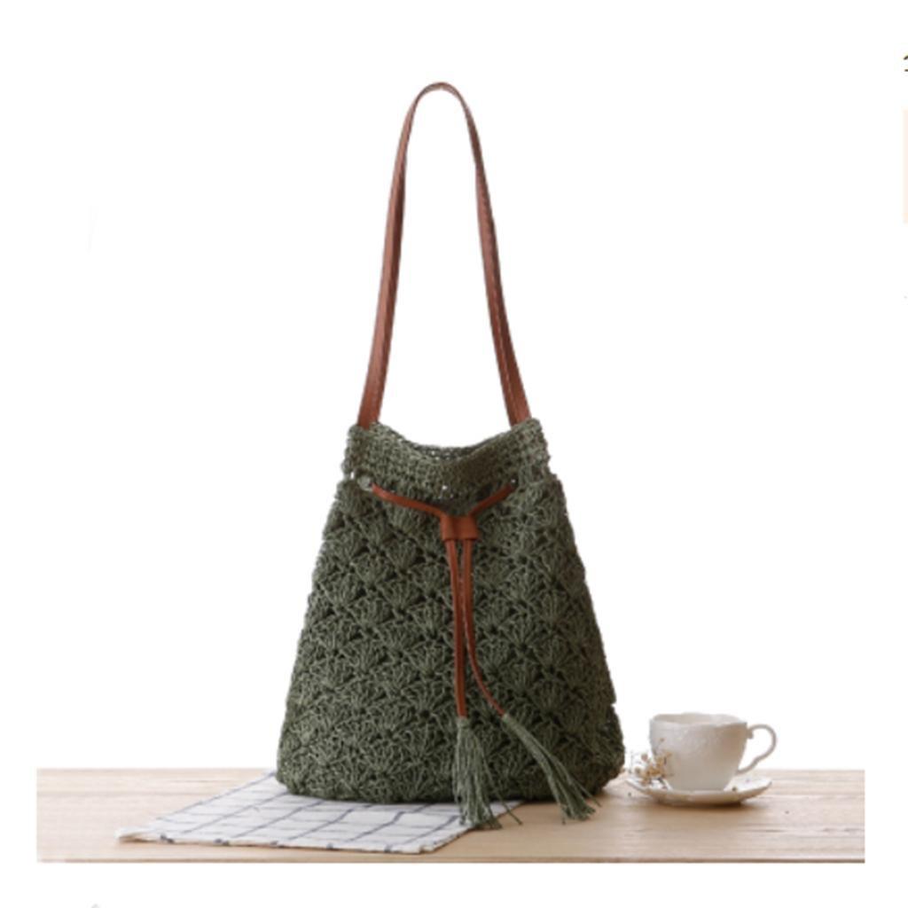 MOXIN Crochet tejido bolso, hecho a mano de compras de la playa ...