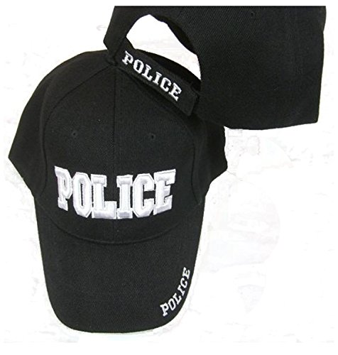 Police Embroidered Adjustable Hat Black Ball Cap