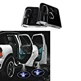 Soondar® Car Logo Ghost Shadow Emblems Wireless Door Sensor Lights No Drill Type Led Laser Door Shadow Light Welcome Projector Lamp 2 Qty Pack (Mustang) - No Drilling Required