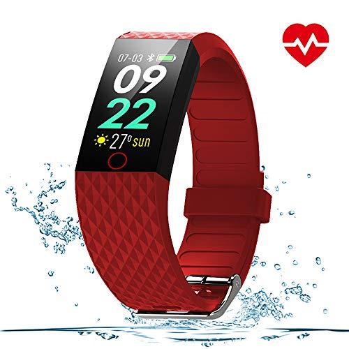 WOSPORTS Fitness Tracker HR Color Smart Watch Heart Rate Fitness Tracker Waterproof Fitness Watch Fit Watch Tracker Pedometer for Men, Women, Kids Activity Tracker