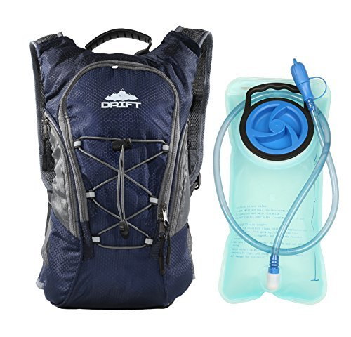 Drift Hydration Pack Backpack with 2 Liter Water Bladder...