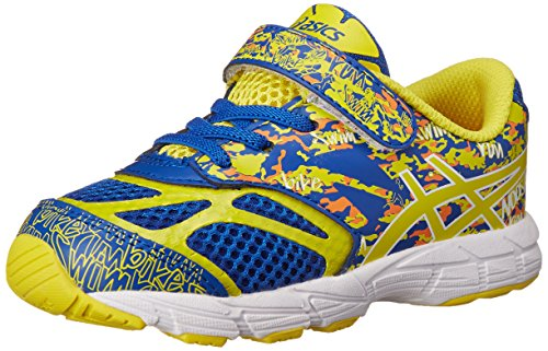 ASICS Kids Noosa Tri 10 TS Running Shoe Blue/Flash Yellow/Orange 8 M US Toddler