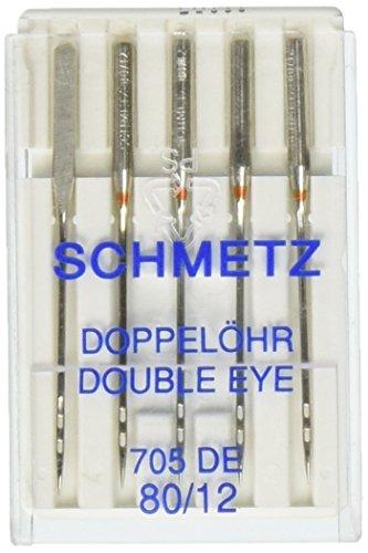 Euro-Notions Double Eye Machine Needles-Size 80/12 5/Pkg
