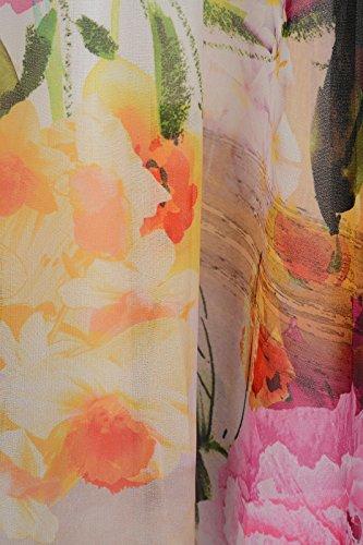 Abito stampa fiore vestito arancione ashley brooke