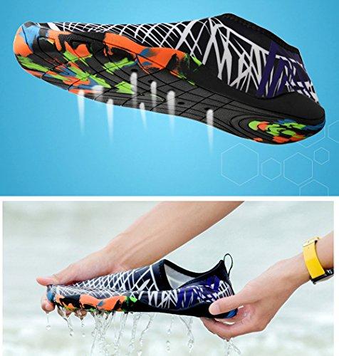 Vimedea Dames Kids Heren Comfort Snorkelen Duiken Water Sporten Barefoot Sneldrogend Aqua Yoga Sokken Fitness Instapper Atletische Zwemschoenen Black-a