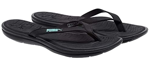 acc52e79e39c PUMA Womens Lux Sport Flip Flops Black Green Size 8 M US  Amazon.ca ...