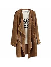 Fashion Women Loose Irregular Large Lapel Casual Cardigan Sweater Coat Outwear