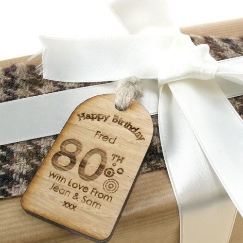 80th Birthday Gifts For Men Unusual Gift Personalised Labels Engraved Mens