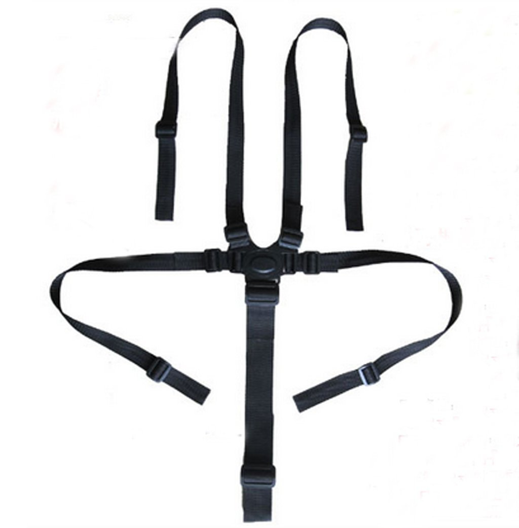 Baby Protection Seat Stroller Belt 5 Point Harness Safe Belt Seat For Stroller High Chair Children Kid Pushchair-Black xff