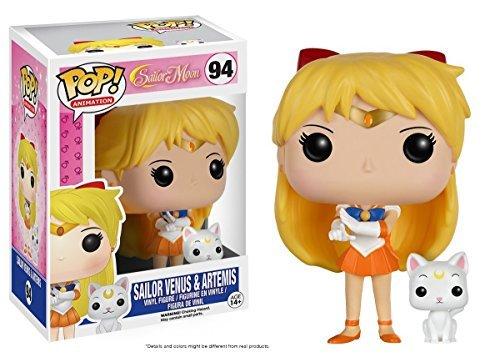 Funko POP Animation Anime: Sailor Venus with Artemis and Sailor Mars Toy Action Figure - 2 Piece BUNDLE