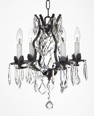 Wrought Iron Crystal Chandelier Chandeliers Lighting
