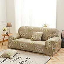 DD FWER Pouch Sofa with cushions,thicken in large sofa slipcovers Discard four seasons of protections for furniture leather sofa elastic fabric cover universal sofa-N 4 places