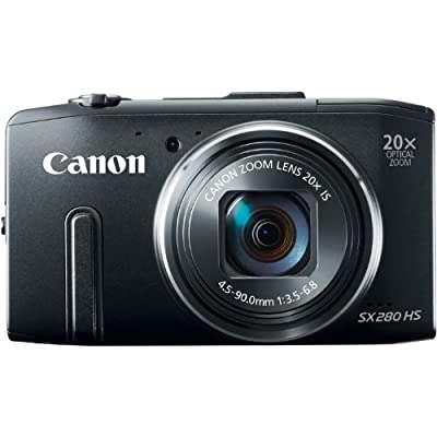 Canon PowerShot SX280 HS 12.1 MP CMOS Digital Camera with 20x Image Stabilized Zoom 25mm Wide-Angle Lens and 1080p Full-HD Video