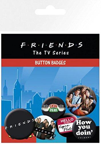 1art1® Set: Friends, Central Perk, 4 X 25mm & 2 X 32mm Badges Paquet De Badges (15x10 cm) + 1x Sticker Surprise 1art1®