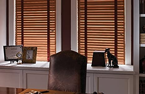 2 Real Wood Blinds 24W x 36H Black Any from 24 Wide to 96 Wide and 36 high to 96 high