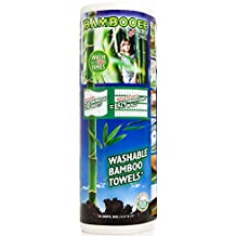 Bambooee - The Original Reuseable & Machine Washable Rayon from Bamboo Paper Towel Replacement As Seen on Shark Tank - We plant a tree with every roll we sell - 30-Sheet Roll