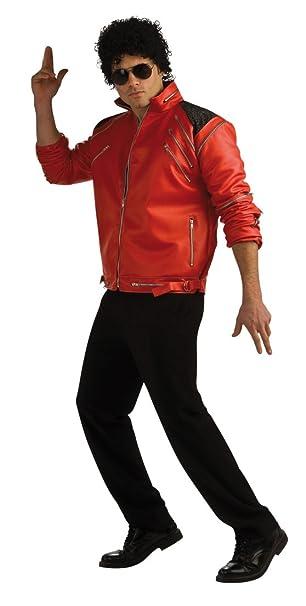 Michael Jackson Beat It Zipper Jacket Red Fancy Dress Up Halloween Adult Costume