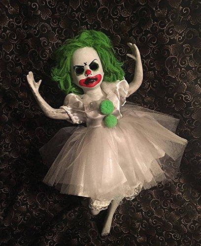 Green Hair Ballerina Clown Circus Sideshow Creepy Horror Doll by Bastet2329 Christie Creepydolls]()
