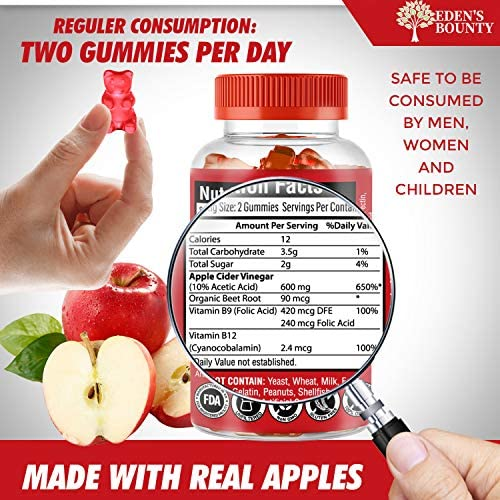Apple Cider Vinegar Gummies for Building Immunity, Detox and Weight Loss (1 Pack, 60 Capsules, Organic and Vegan)… 7