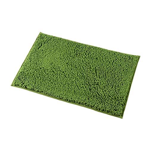 MAYSHINE 20x32 inch Non-Slip Bathroom Rug Shag Shower Mat Machine-Washable Bath mats with Water Absorbent Soft Microfibers of - Green by MAYSHINE