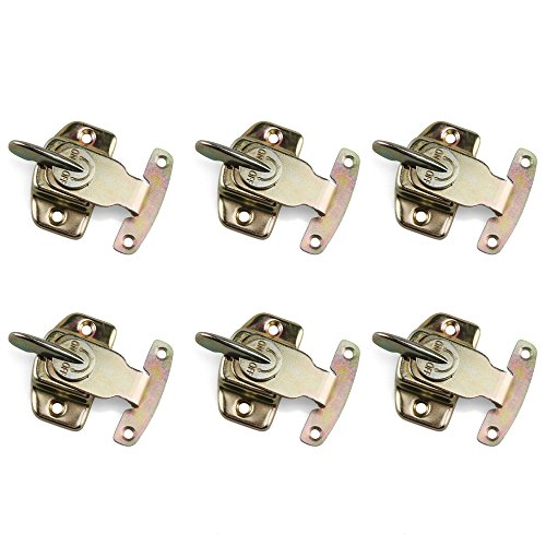 Table Locks, URBEST 6PCS Iron Brass Plated Dining Table Buckles Connectors Table Abalone Fasteners Hardware Accessories ()