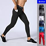 Yuerlian Men's Compression Pants Running Tights