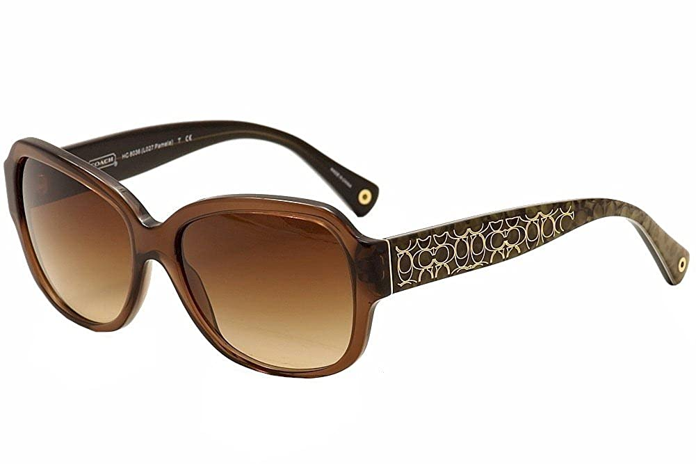 1253c89e3e7 Coach Women s Pamela HC8036 HC 8036 5073 13 Brown Fashion Sunglasses 56mm   Amazon.ca  Clothing   Accessories
