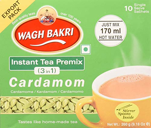Great Bazaar Wagh Bakri Instant CardamomChai Tea, 260 Gram