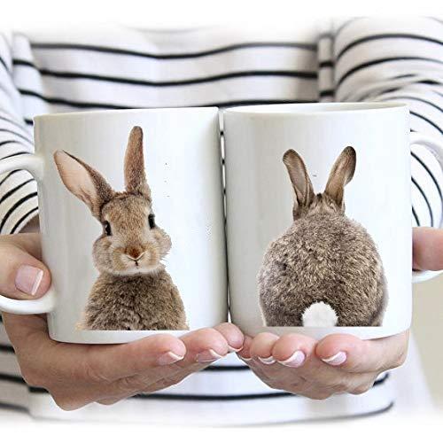 (Rabbit coffee mug,Nursery Animal cup,Woodland Animal mug,Woodland Baby Shower,Forest Animal mug,Bunny Butt cup, Girls gift mug,Rabbit Lover)
