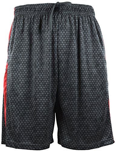 (ChoiceApparel Mens Training/Basketball Shorts with Pockets to Choose from (L, 249-BLACK/CHARCOAL) )